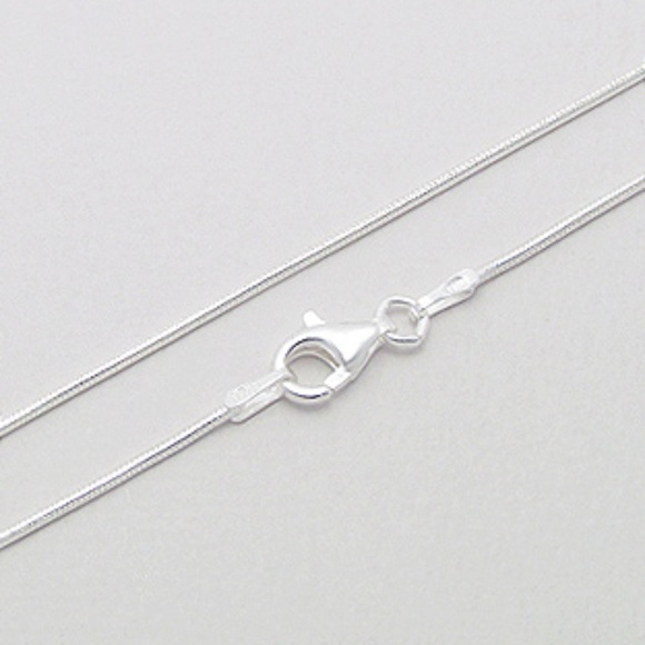 Beautiful Sterling silver 925 sterling Sterling Silver 2.5mm Round Snake Chain